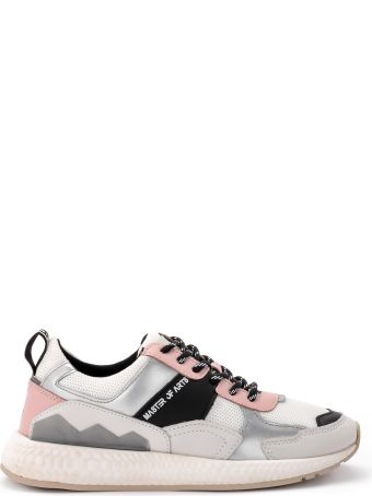 M.O.A. master of arts Multi-material White And Pink Moa Sneakers