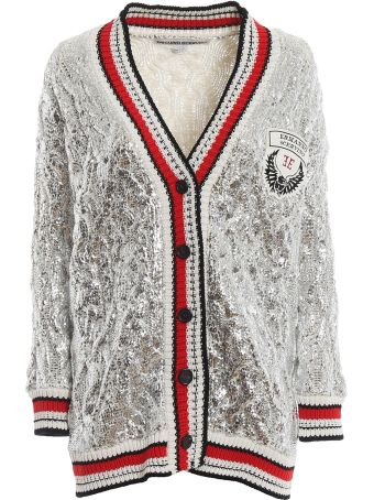 Ermanno Scervino Striped Trim Cardigan
