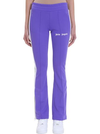 Palm Angels New Skinny Track Purple Polyester Pants