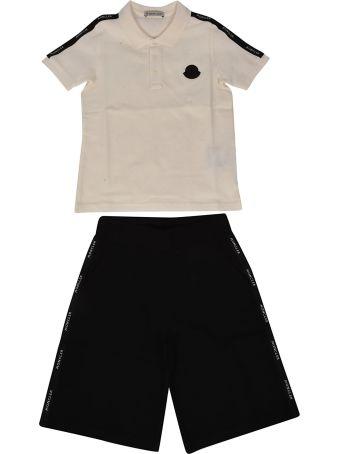 Moncler Kids Paneled Shorts Set