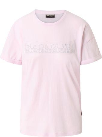 Napapijri Napapijri Pink Logo T-shirt