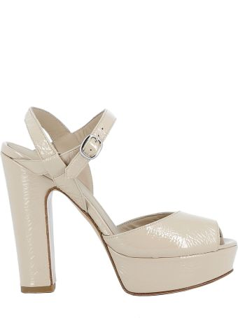 Elena Iachi Beige Leather Sandals