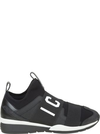 Dsquared2 Low-top Icon Sneakers In Neoprene And Nabuk Color Black