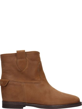 Via Roma 15 Caramel Leather Ankle Boots
