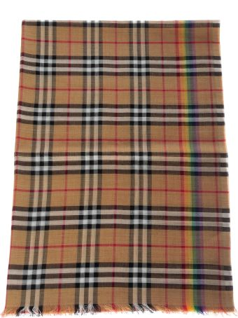 Burberry Vintage Check Fringed Scarf