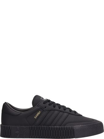 Adidas Black Leather Sambarose Sneakers