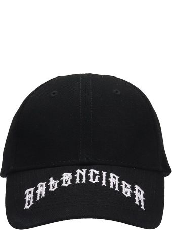 Balenciaga Black Cotton Hat
