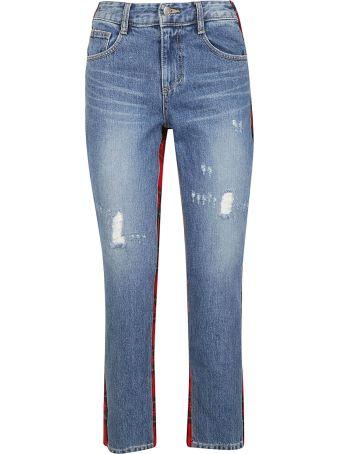 SJYP Back Check Mix Jeans