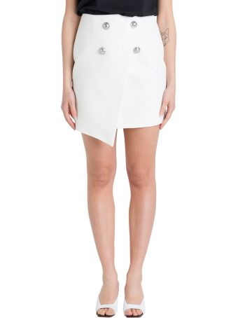 Balmain Wrap Mini Skirt With Embossed Botton