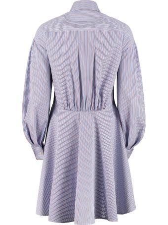 Etro Long Striped Poplin Shirt