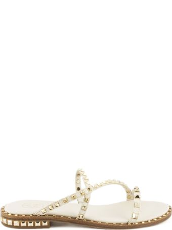 Ash Peace Sandals In White Leather