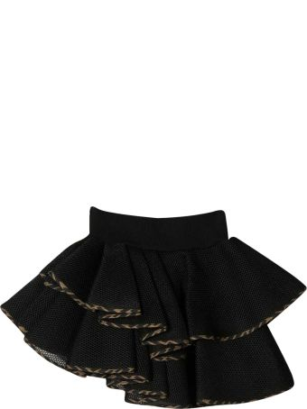Fendi Black Asymmetrical Skirt