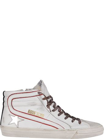 Golden Goose White Leather Slide Sneakers