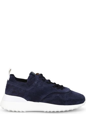 Tod's Navy Perforated Suede Running Sneakers