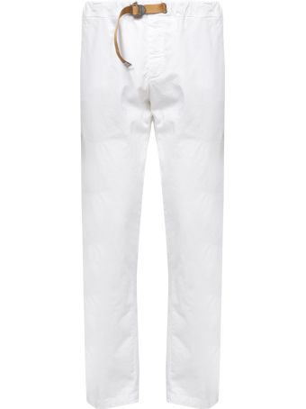 White Sand Belted Slim-fit Jeans