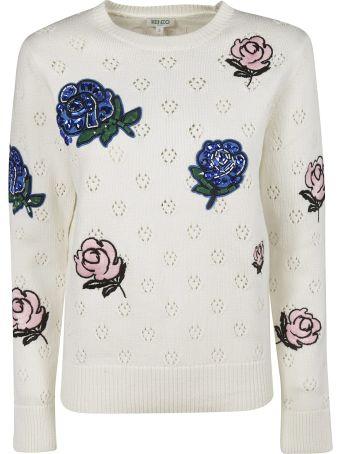 Kenzo Embellished Flower Sweater