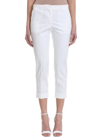 Mauro Grifoni White Cotton Pants