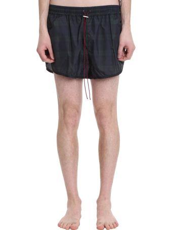 REPRESENT Blue Polyamide Swim Shorts