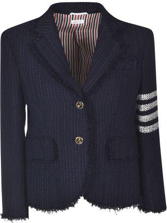 Thom Browne Frayed Tweed Coat