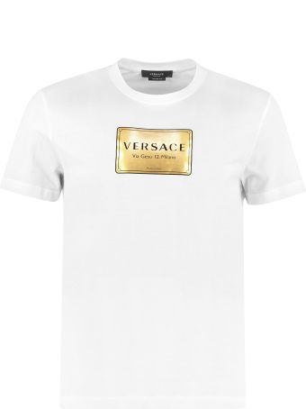 Versace Cotton Crew-neck T-shirt