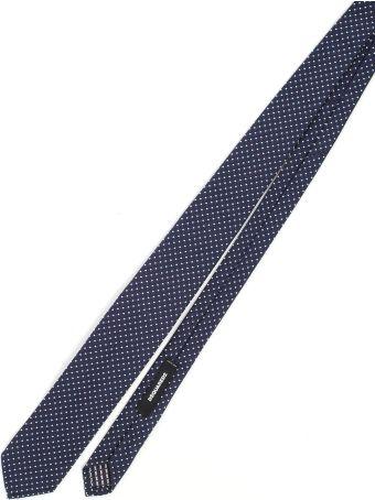 Dsquared2 Tie Silk Cotton Jacquard