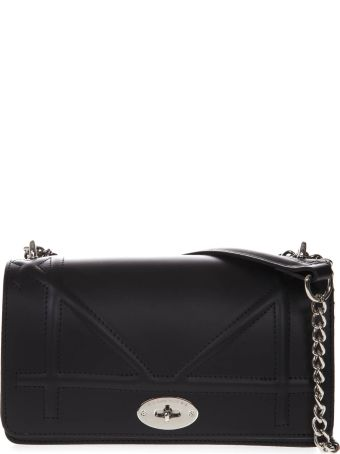 Marc Ellis Shane Lasaruga Shoulder Bag In Black Leather
