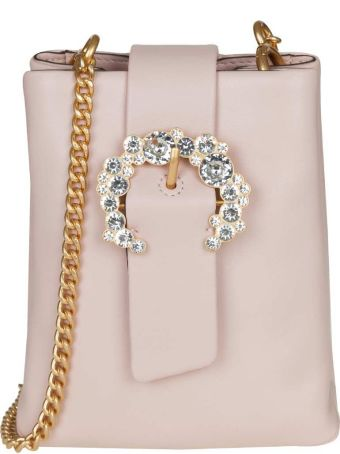 Tory Burch Pink Leather Door In Pink Color
