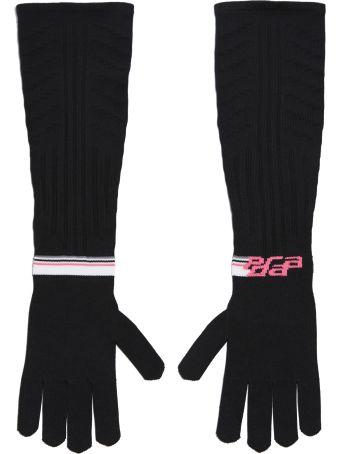 Prada Long Ribbed Techinical Gloves
