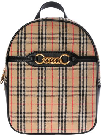 Burberry Checked Print Backpack