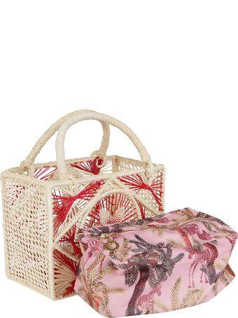 Sensi Studio Multicolor Straw Bag