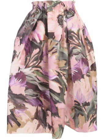 Comme des Garçons Flower Printed Nylon Skirt