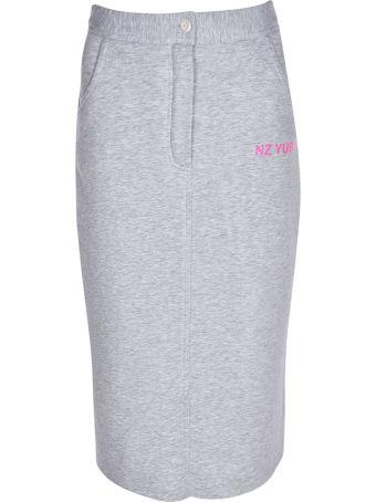 Natasha Zinko Button Jersey Skirt