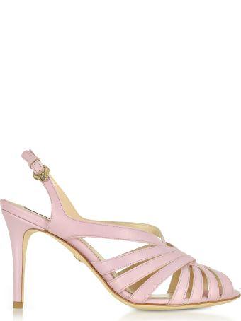 Roberto Cavalli Mauve Leather Sandals