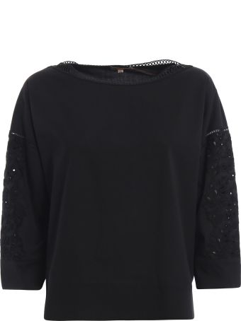 Ermanno Scervino Embroidered Poplin Blouse
