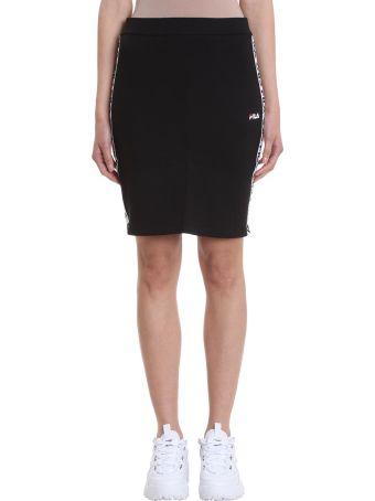 Fila Maha Black Cotton Pencil Skirt