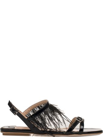 Fabio Rusconi Black Patent Leather Sandal