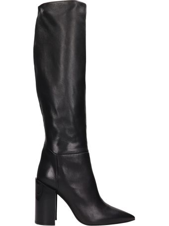 Arcosanti Black Leather  Boots