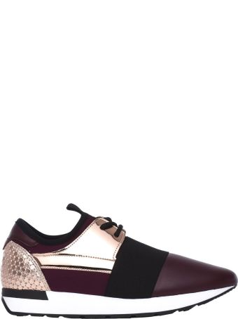 Pollini Burgundy/powder Pink Sneakers