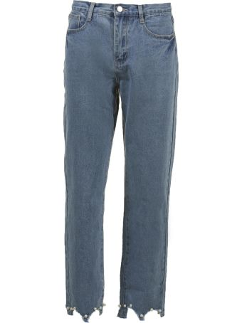Jovonna Hem Cropped Jeans