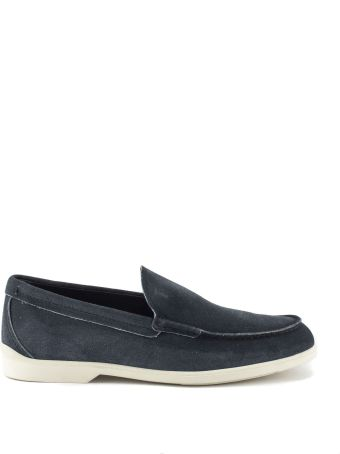 Tod's Loafers In Light Blue Suede Leather