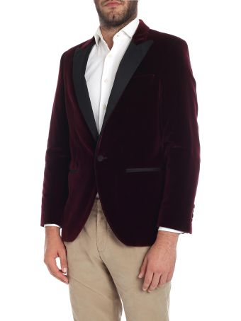 Hackett Jacket Velvet 450245r. Wine