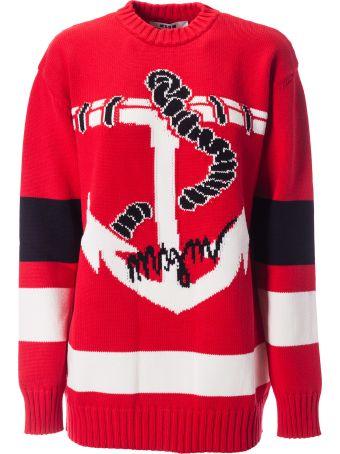 MSGM Anchor Patterned Sweatshirt