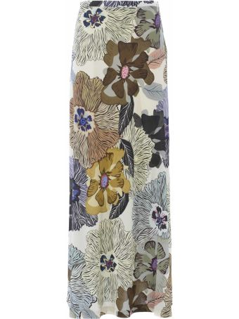 Etro Floral Print Long Skirt