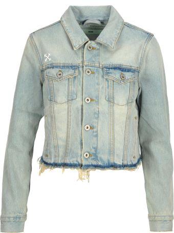 Off-White Off White Denim Jacket Cropped
