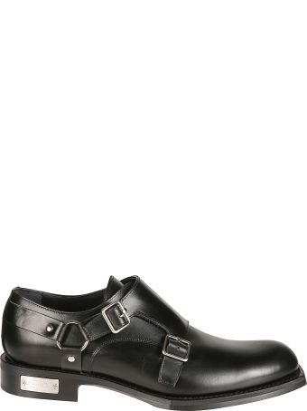 Christian Dior Logo Plaque Monk Shoes