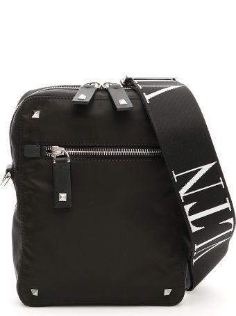 Valentino Garavani Nylon Vltn Messenger Bag