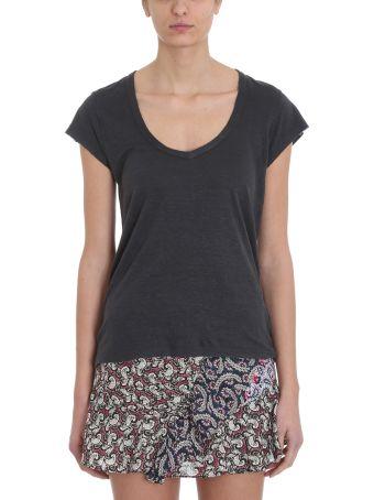 Isabel Marant Étoile Zankya T-shirt Grey Linen Cotton