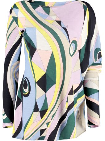 Emilio Pucci Printed Long-sleeve Top