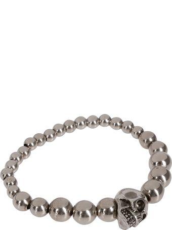 Alexander McQueen Metallic Skull Bracelet