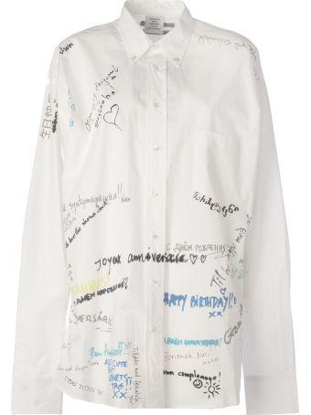 VETEMENTS Scribble Printed Shirt